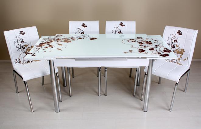 lokanta masa sandalye takimlari Kahve çiçekli masa sandalye takımı rmt 22